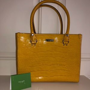 Kate Spade Bag In Yellow Mustard Color
